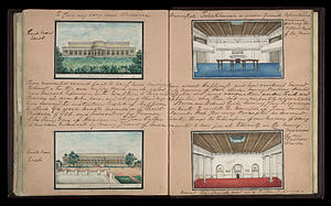 Delhi Book - Image: Different views of the Metcalfe House, Delhi, 1843