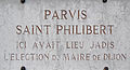 Dijon parvis Eglise Saint PHILIBERT plaque information.jpg