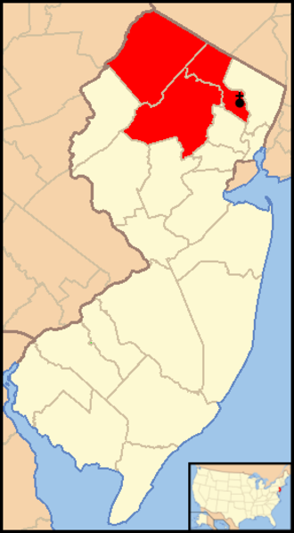 Roman Catholic Diocese of Paterson - Image: Diocese of Paterson map 1