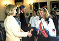 Dionna at the White House with President, Hillary,and Chelsea Clinton.JPG
