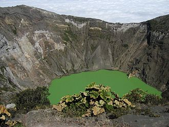 Cordillera Central (Costa Rica) - Crater of Irazú Volcano