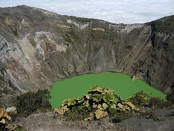 The crater lake of Volcán Irazú, Costa Rica.