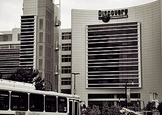 Discovery Communications - Discovery Communications headquarters at Silver Spring, Maryland. The building's logo has since changed.