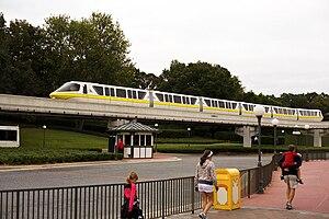 Mark VI monorail - The Mark VI Yellow train in service on the Express beam