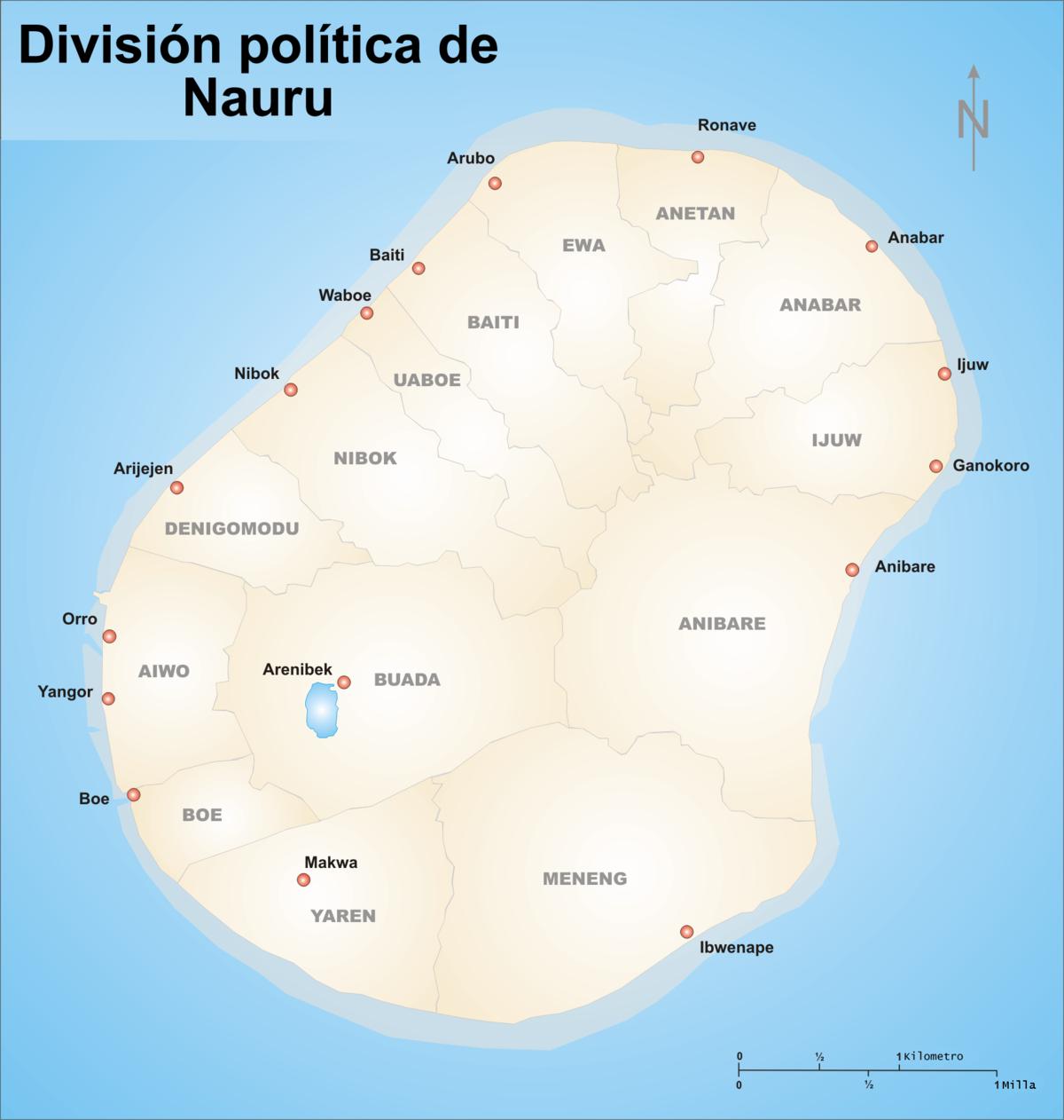 Republic of Nauru: area, population, president, state symbols 23