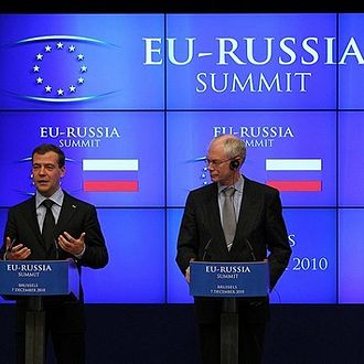 Herman Van Rompuy - Van Rompuy with Russian President Dmitry Medvedev