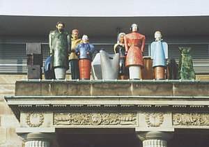 Kassel - Installation by Thomas Schütte during Documenta IX, 1992