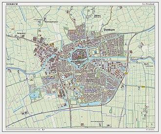 Dokkum - Topographic map of Dokkum, June 2014