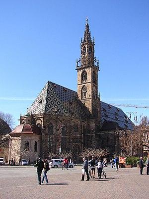 Trentino-Alto Adige/Südtirol - Cathedral Maria Himmelfahrt in Bolzano/Bozen, capital of South Tyrol