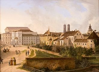 Domenico Quaglio the Younger - The Residenz (1827), Neue Pinakothek