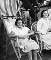 Double portrait, women, deck chair, arm chair, summer, garden Fortepan 4474.jpg