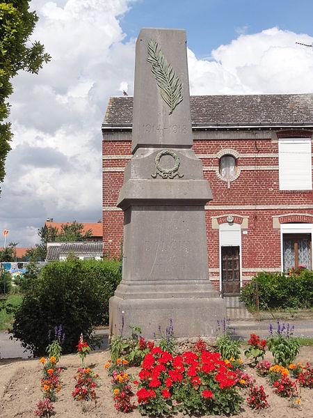 Douchy (Aisne) monument aux morts
