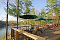 Douthat Lakeview Restaurant-deck-customers (17634176419).jpg