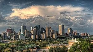 Edmonton Metropolitan Region - Downtown Edmonton skyline