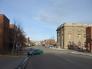 National Register of Historic Places listings in Uinta County, Wyoming - Image: Downtown Evanston Historic District