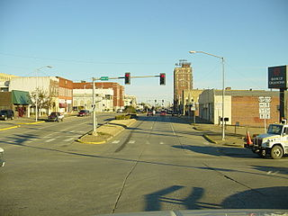 McAlester, Oklahoma City in Oklahoma, United States