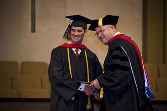 West Coast Baptist College - Dr. Paul Chappell with 2009 Graduate