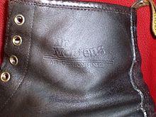 Marque estampée sur le côté externe de la botte (ca 1990). 19abf3ac234e