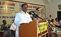 Dr. Thambidurai, MP, addressing at inauguration of the Bharat Nirman Public Information Campaign, at Karur, Tamil Nadu on November 19, 2011.jpg