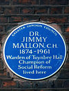 Dr Jimmy Mallon - blue plaque.JPG