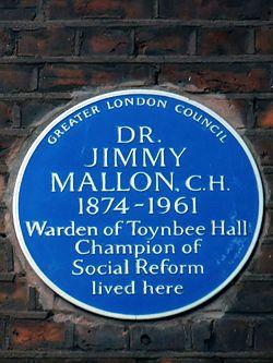 Dr jimmy mallon   blue plaque