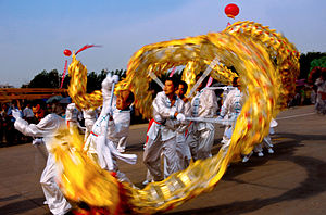 Dance in China - Dragon dance.