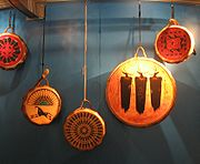 Several American Indian-style drums for sale at the National Museum of the American Indian.