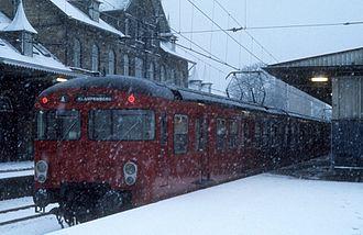 Charlottenlund station - Charlottenlund station in 1976.
