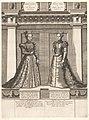 Dubbelportret van Isabella en Johanna van Habsburg Portretten van leden van het Oostenrijkse Huis (serietitel) Austriacae gentis imaginum (serietitel), RP-P-1961-861.jpg