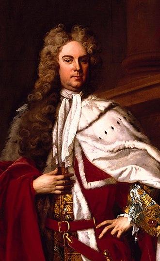 James Brydges, 1st Duke of Chandos - Portrait by Michael Dahl