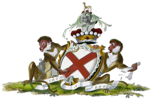 FitzGerald dynasty - Arms of the Fitzgeralds of Kildare, Viscounts of Leinster, by Charles Catton (1790)