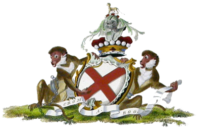 Arms of the Fitzgeralds of Kildare, Viscounts of Leinster, by Charles Catton (1790) Duke of Leinster coa.png