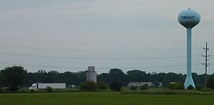 Dwight, Illinois - Dwight and Watertower, 2006