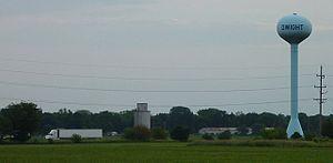 Dwight, Illinois - Dwight and Watertower, 2006