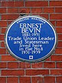 ERNEST BEVIN 1881-1951 Trade Union Leader and Statesman lived here in flat No.8 1931-1939.jpg