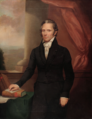Enos T. Throop - Gubernatorial portrait of Enos T. Throop.