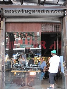 The East Village Radio storefront studio back in 2010