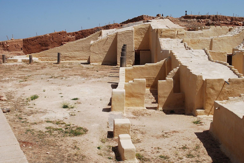 Ruines du «palais G», le palais royal de la période proto-syrienne.