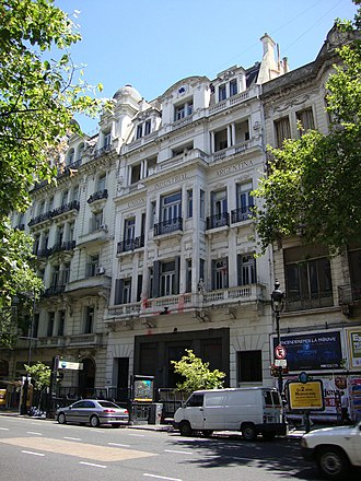 Argentine Industrial Union - Headquarters of the Argentine Industrial Union on Avenida de Mayo, Buenos Aires.