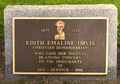 Edith Emaline Orvis plaque.png