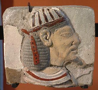 Leontopolis (Heliopolis) - Head of an Asiatic prisoner, earthenware, fragment, Tell el-Yahoudiyeh (1184–1153 BCE)