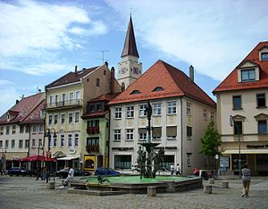 Ehingen - Market square