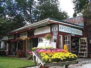 U.S. Route 66 in Kansas - Eisler Brothers store in Riverton
