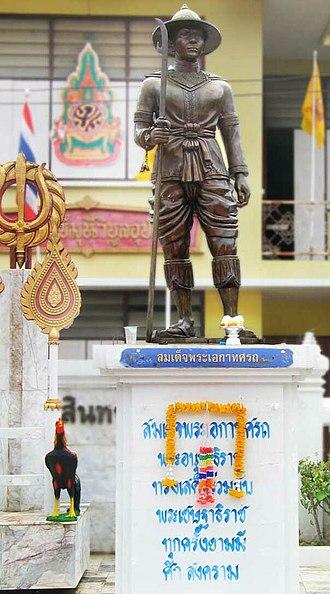 Ekathotsarot - Statue of King Ekathotsarot at Wat Pha Mok, Ang Thong