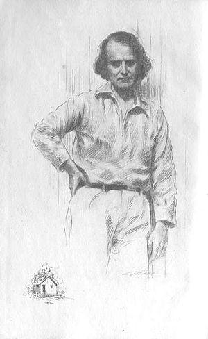 Elbert Hubbard - Elbert Hubbard illustrated in the frontispiece of The Mintage.