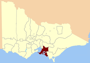 Electoral district of Mornington - Image: Electoral district of Mornington, Victoria 1859