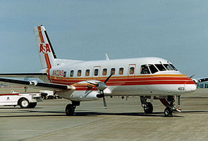 Atlantic Southeast Airlines - ASA Embraer EMB-110 Bandeirante at Dallas Fort Worth International Airport in April 1987