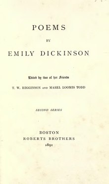 Emily Dickinson Poems - second series (1891).djvu