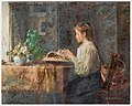 Emma Ekwall (Swedish, 1838-1925) «Interior with lace-making girl».jpg