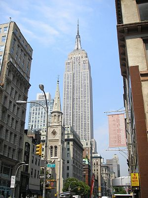 The Empire State Building in New York City, ta...